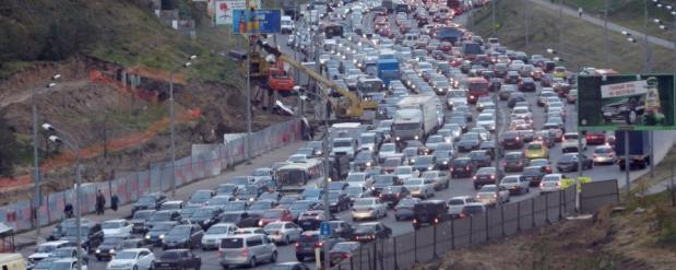 Самые длинные автомобильные заторы в Казани выявили на Горьковском шоссе