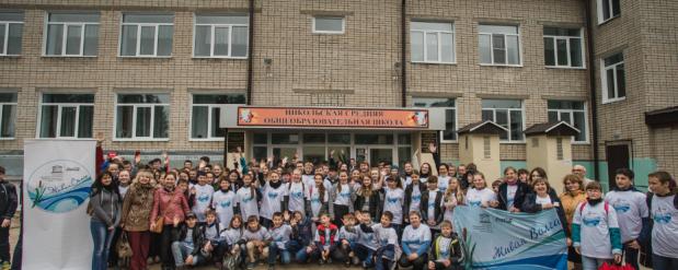 День Волги отметили школьники из Лаишевского района Республики Татарстан