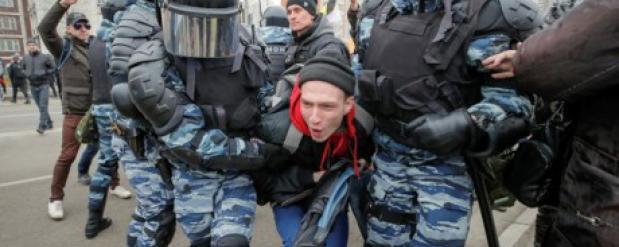 На акциях по всей России задержаны более 400 человек