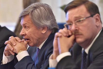 Председатель комитета Государственной думы России по международным делам Алексей Пушков и председатель комитета Совета федерации